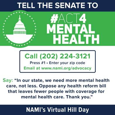 Take Action | Virtual Hill Day #Act4MentalHealth [NAMI]
