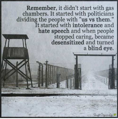 it didnt; start with gas chambers
