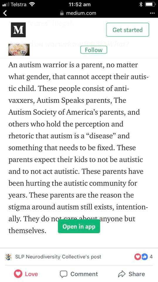 autism warrior parent