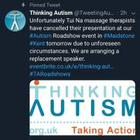 Update | @TweetingAutism Cancels Quackery Event Aimed At Autistics, Seeking Replacement Speaker | Protest Still On | Autistic Inclusive Meets