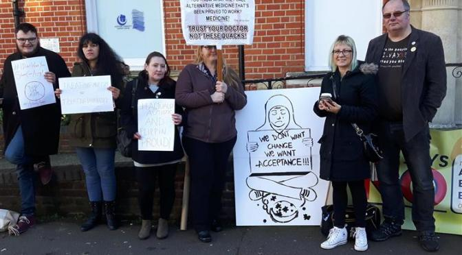 Thinking Autism seminar in Maidstone was picketed by autistic protesters