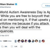 William Shatner Speaks Again | He's No Will.I.Am For The Autistic People's Civil Rights Movement