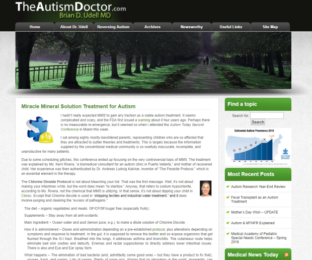 Miracle Mineral Solution Treatment For Autism | The Autism Doctor