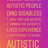 3 Discredit tactics used against Autistic (and Disabled) people ... | Look familiar @BillyMann?
