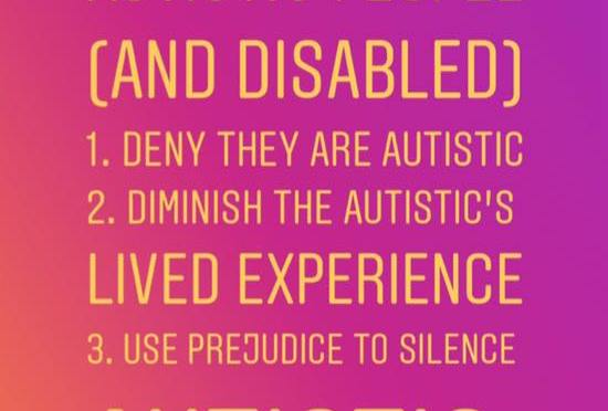 3 Discredit tactics used against Autistic (and Disabled) people … | Look familiar @BillyMann?