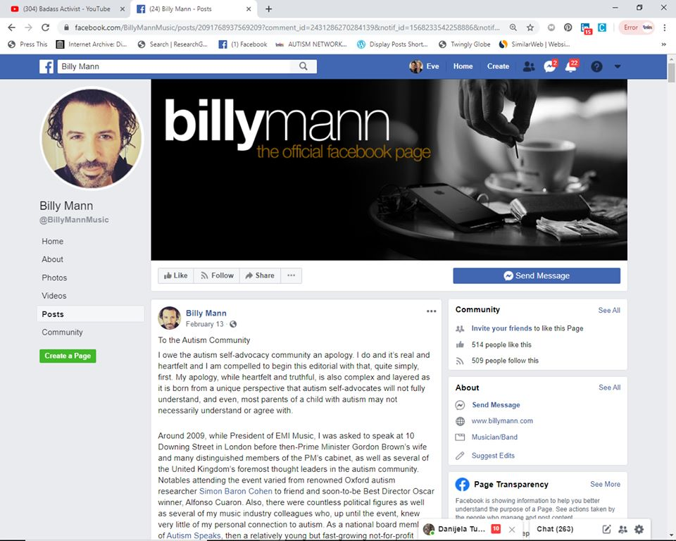 Image result for billy man autism speaks